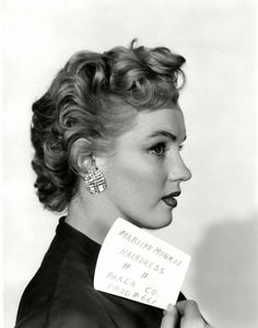 missingmarilyn:  Marilyn Monroe in a hair test for Don't Bother To Knock, 1951.