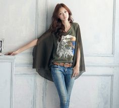 Femininity Irregular chiffon Blouses - stylishplus.com