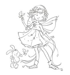 Leading Illustration & Publishing Agency based in London, New York & Marbella. Digital Stamps Free, Illustration Noel, Fairy Coloring, Whimsy Stamps, Coloring Book Pages, Cute Images, Colorful Pictures, Embroidery Patterns, Barn