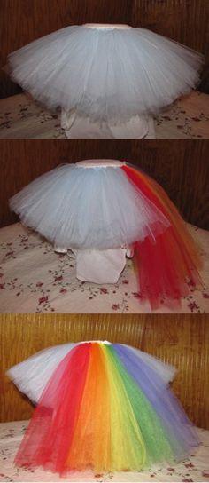 My Little Pony Inspired Rainbow Dash Tutu for my granddaughter's 3rd Birthday