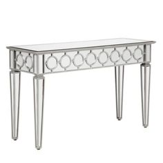 Focal point with glasses showcase set on top. MUST HAVE.  Sophie Mirrored Console Table from Z Gallerie