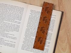Elephant Bookmark  Leather Bookmark  by TinasLeatherCrafts on Etsy. Repin To Remember.