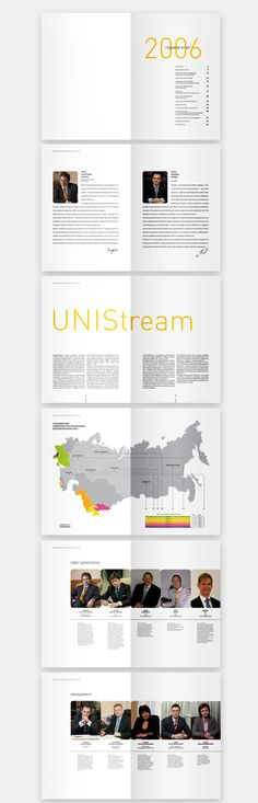 Annual Report for Unistream Bank by Helen Solo, via Behance