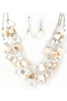 Mother of Pearl Teardrop Necklace | Emma Stine Jewelry Necklaces