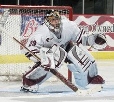 Quick tracking the puck at Umass, long before the 2012 cup run with the Kings Golf Bags, Nhl, Golf Clubs, Hockey, College, Running, Sports, Hs Sports, University