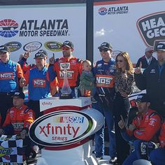 Kyle Busch wins the heads up georgia 250 xfinity race at Atlanta Motor Speedway saturday.#NASCAR
