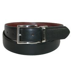 Tommy Hilfiger Mens Feather Edge Reversible 32mm Belt