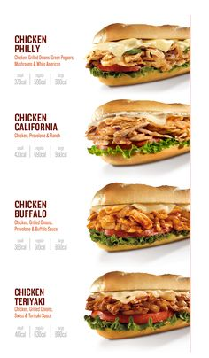Whether you're looking for one of our famous Philly cheesesteaks or want to try one of our other delicious grilled subs, we have something for everyone. Sandwich Menu, Gourmet Sandwiches, Gourmet Burgers, Burger Recipes, Menue Design, Food Menu Design, Food Truck Menu, Healthy Snacks, Healthy Recipes