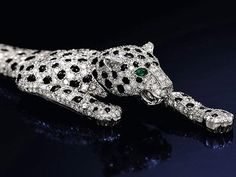 #ThrowbackThursday  This onyx and diamond panther bracelet, once owned by King Edward VIII's love, Wallis Simpson, was sold at auction in 2010 for $12.4 mil. Rumor is Madonna may have bought it. #onyxanddiamond #pantherbracelet #WallisSimpson #Sothebyauction #famousjewelry (from BusinessInsider.com)