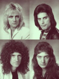 Queen - Roger Taylor (drummer/vocals), Freddie Mercury, Brian May (guitar/vocals), John Deacon (bass).