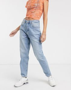 Browse online for the newest Tommy Jeans high waist mom jean styles. Shop easier with ASOS' multiple payments and return options (Ts&Cs apply). High Jeans, High Waist Jeans, Jeans Style, Mom Jeans, Asos, Slim, Womens Fashion, Fitness, Clothes