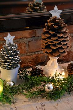 More Great Ideas for Pine Cone Trees.. Fun Craft!