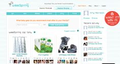 Pregnant Chicken blog--link to weeSpring.com which lets you pick products and have your friends and family rate them