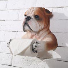59.00$  Buy here - http://alimku.worldwells.pw/go.php?t=32601746254 - Bathroom Hardware handmade bull dog shape creative hanging bathroom fixture tissue  toilet paper holders roll hanging holde 59.00$