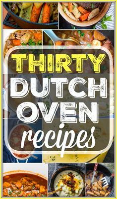 Here are 30 easy dutch oven recipes you can use at home or when you're camping. From dinners to bread and dutch oven desserts too you will find a variety of simple and easy to put together meals here you can cook in your cast iron dutch oven. I love this thing!