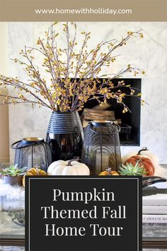 Coffee Table Styling in Pumpkin Themed Fall Home Tour Autumn Inspiration, Home Decor Inspiration, Decor Ideas, Fall Table Settings, Coffee Table Styling, Velvet Pumpkins, Beautiful Sites, Autumn Home, House Tours
