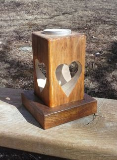Heart Tea Light Candle Holder by caddyshack2 on Etsy, $24.00