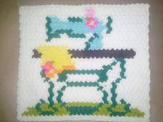 This Pin was discovered by HUZ Crochet Blocks, Yoshi, Kids Rugs, Knitting, Fictional Characters, Little Cottages, Tricot, Kid Friendly Rugs, Breien