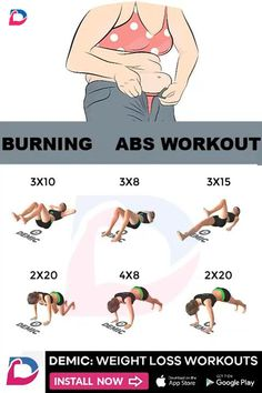 Gym Workout Tips, Workout Videos, At Home Workouts, Workout Abs, Morning Ab Workouts, Workout Exercises, Easy Workouts, Personal Training Courses, Mental Training