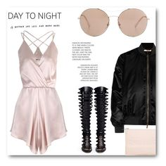 """Day 2 Night - Silk Romper"" by loveandother ❤ liked on Polyvore featuring Again, Givenchy, Gucci, Paul Andrew and Miss Selfridge"