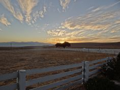 Sunset over the ranch looking towards the Salinas valley.