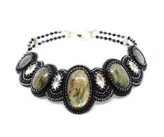 Excited to share the latest addition to my #etsy shop: Bead embroidery labradorite choker Black bib necklace Gemstone jewelry Statement choker Prom necklace wife gift for birthday Gothic necklace https://etsy.me/2JqkDl5 #jewelry #necklace #prom #black #girls #no #glass
