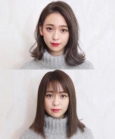 Cute hairstyles for medium hair,kawaii Korea fashion,Asia cute styles Cute Hairstyles For Medium Hair, Medium Hair Styles, Short Hair Styles, Korean Short Hair, Selfie, Fashion Books, Hair Designs, Daily Fashion, Korea Fashion