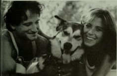 Robin and Valerie with their husky at home in 1978