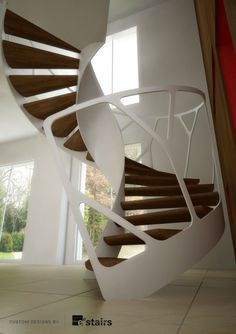 These staircase designs are aptly named; Leonardo Stairs - EeDesign #beautifulstaircases