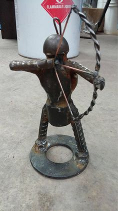 The Hunter Archer Weld Art from Scrap Metal