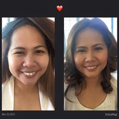 Before and after look by Nowellyn Pahanel HMUA.