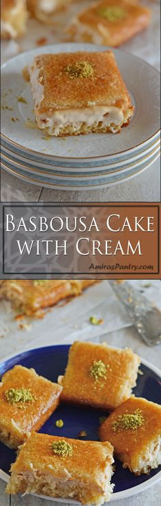 Basbousa,one of the best semolina dessert in the Middle east. A one bowl dump semolina cake kind of recipe, sweet and soft.