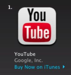 It's been a week since Google released its first ever YouTube app for the iPhone and iPad. It's now the top free app in iTunes and may be a harbinger of what will happen with the expected Google Maps app.
