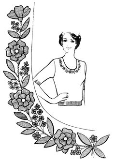 Embroidery bead dress inspiration 65 New Ideas Embroidery Neck Designs, Floral Embroidery Patterns, Embroidery Works, Embroidery Applique, Beaded Embroidery, Cross Stitch Embroidery, Satin Stitch, Fabric Painting, Needlework