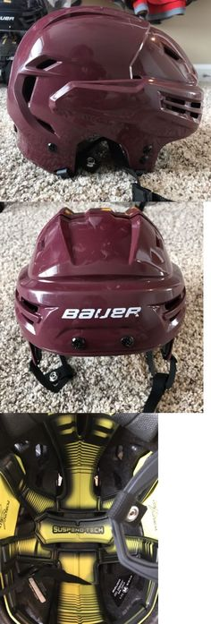 Helmets 20854: Bauer Re-Akt Pro Stock Maroon (Millionaires Canucks) Hockey Helmet, Size M -> BUY IT NOW ONLY: $150 on eBay!