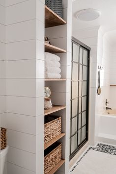 Farmhouse Bathroom Makeover on a Budget! - Joyful Derivatives - Farmhouse Bathroom Makeover Reveal / Tour how we remodeled our small bathroom into a fabulous maste - Bad Inspiration, Bathroom Inspiration, Bathroom Inspo, Installing Shiplap, Bathroom Renos, Shiplap Bathroom, Gold Bathroom, Bathroom Vanities, Bathroom Interior