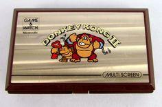 Vtg 1982 Nintendo Game & Watch DONKEY KONG 2 II Multi Screen Clean JR-55 WORKS!!