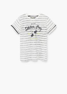 T-shirt algodão riscas