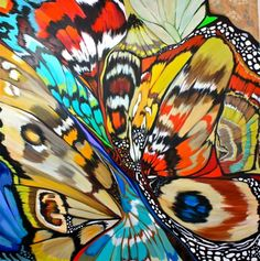 """Contemporary Painting - """"Mariposa XVIl"""" (Original Art from DL Watson) Dragonfly Art, Butterfly Art, Butterflies, Papillion Butterfly, Butterfly Pattern, Watercolor Canvas, Canvas Art, Art Pictures, Art Images"""