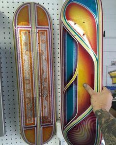 Skateboard decks custom paint