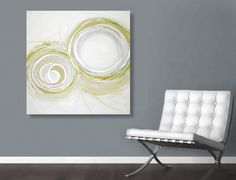 Large Abstract Acrylic Painting Original Fine by linneaheideart, $500.00