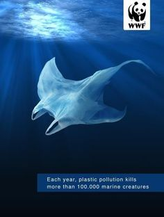 Publicité - Creative advertising campaign - WWF: Each year, plastic pollution kills more than 100 000 marine creatures Save Planet Earth, Save Our Earth, Ocean Pollution, Plastic Pollution, Water Pollution Poster, Creative Advertising, Urban Outfitters France, What Is Fashion Designing, Save Our Oceans