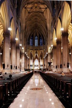 St. Patrick's Cathedral, NYC  It has been my dream to get married here ever since my first visit when I was a little girl.