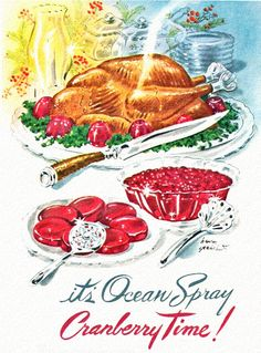 It's Ocean Spray Cranberry Time! #vintage #Thanksgiving #Christmas #food #ads