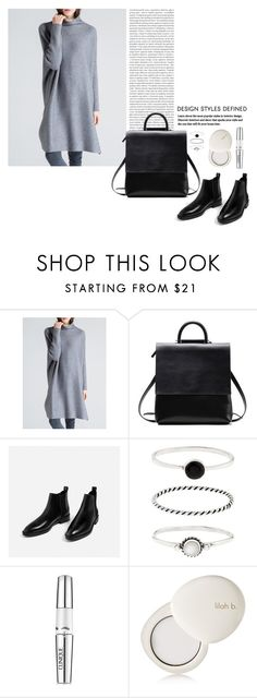 """""""OOTD - Cashmere Sweater Dress"""" by by-jwp ❤ liked on Polyvore featuring Oris, Accessorize, Clinique and lilah b."""
