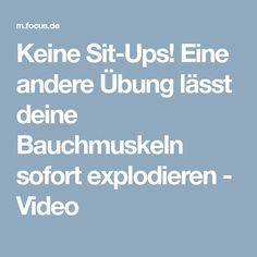 Keine Sit-Ups! Eine andere Übung lässt deine Bauchmuskeln sofort explodieren - Video