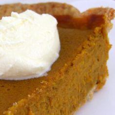 Pumpkin pie recipe from scratch. Definitely making this throughout Pumpkin season! Loveee me some pumpkin pie.