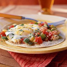 75Summer Squash and Zucchini Recipes | Huevos Rancheros with Zucchini and Green Pepper | CookingLight.com