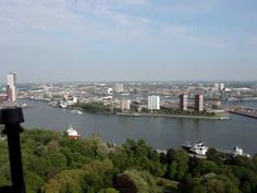 Krajobraz Rotterdamu z tarasu Euromasztu Rotterdam, River, World, Beach, Outdoor, Outdoors, The Beach, Beaches, Outdoor Living