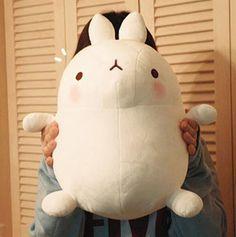 "Molang Bunny Rabbit 16"" Doll Toy Soft Plush Cushion Figure Animal Cute Kawaii | eBay"